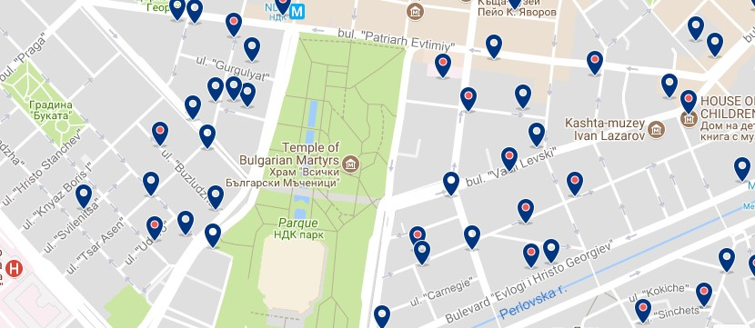 Accommodation around NDK in Sofia - Click on the map to see all accommodation options in this area.png