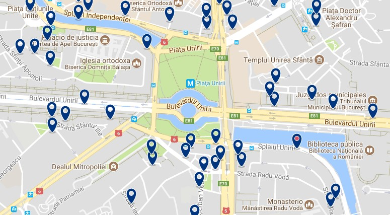 Staying in the Civic Centre of Bucharest – Click on the map to see all available accommodation in this area