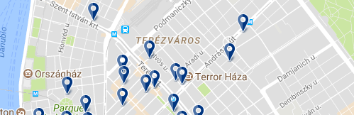 Accommodation in Terézváros - Click on the map to see all available accommodation in this area