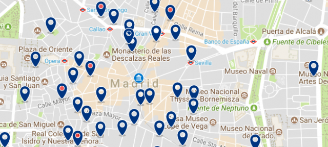 Accommodation near Puerta del Sol - Click on the map to see all available accommodation in this area