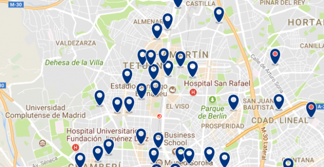 Alojamiento en Chamartín - Click on the map to see all available accommodation in this area