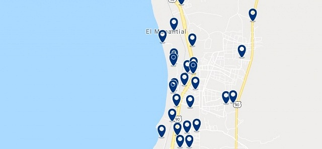 Accommodation in Bello Horizonte - Click on the map to see all available accommodation in this area