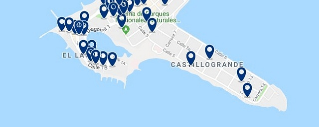 Accommodation in El Laguito - Click on the map to see all available accommodation in this area