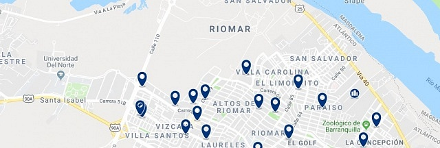 Accommodation in Riomar - Click on the map to see all available accommodation