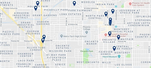 Accommodation in Encanto - Click on the map to see all accommodation in this area