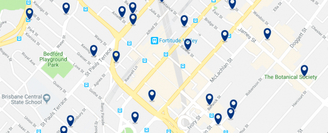 Accommodation in Fortitude Valley - Click on the map to see all accommodation in this area