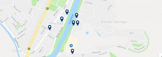 Accommodation near Desert Springs - Click on the map to see all accommodation in this area