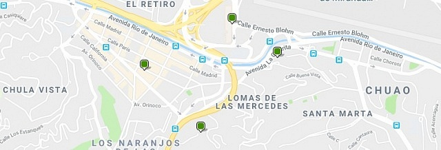 Accommodation in Las Mercedes - Click on the map to see all available accommodation in this area