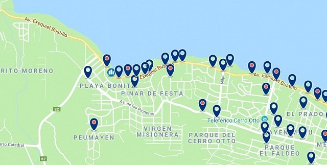 Accommodation in Playa Bonita - Click on the map to see all available accommodation in this area