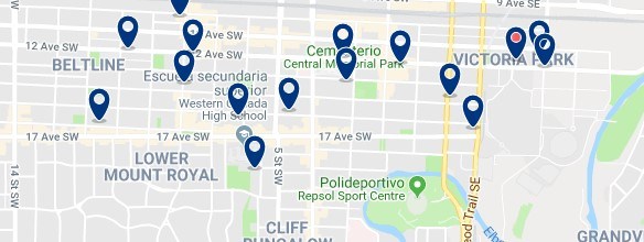 Accommodation in Beltline - Click on the map to see all accommodation in this area