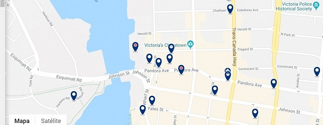 Accommodation in Chinatown - Click on the map to see all available accommodation in the area