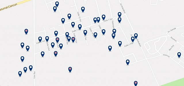 Accommodation in La Veleta - Click on the map to see all available accommodation in this area