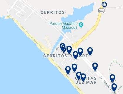 Accommodation in Cerritos – Click on the map to see all available accommodation in this area