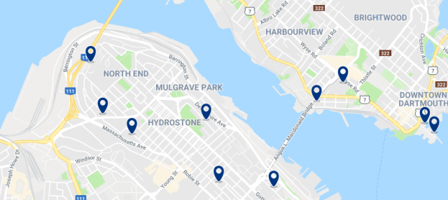 Accommodation in North End Halifax – Click on the map to see all available accommodation in this area
