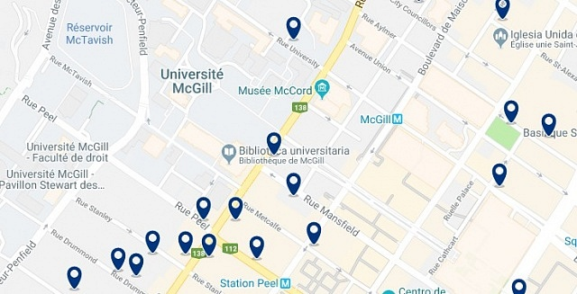 Accommodation in Underground City – Click on the map to see all accommodation in this area