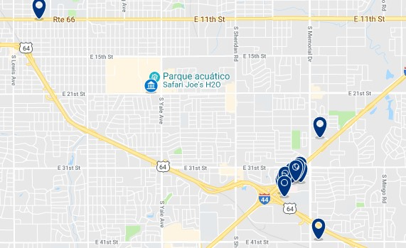 Accommodation near Tulsa State Fair - Click on the map to see all available accommodation in this area