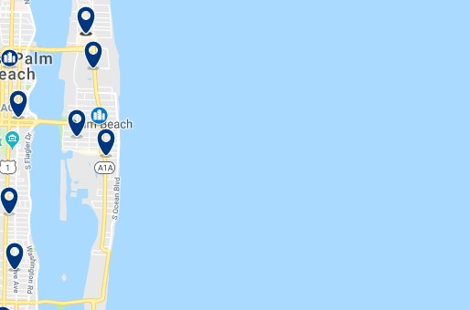 Accommodation in Palm Beach - Click on the map to see all accommodation in this area