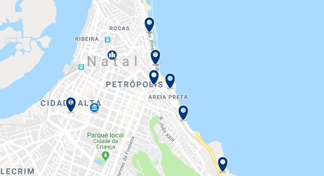 Accommodation in Natal City Center - Click on the map to see all available accommodation in this area