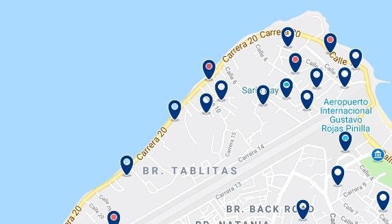 Accommodation in North San Andrés - Click to see all available accommodation on a map