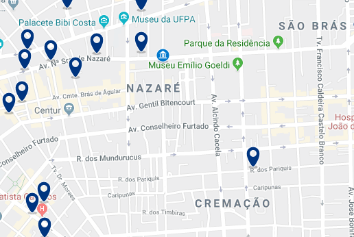 Accommodation in Nazaré – Click on the map to see all available accommodation in this area