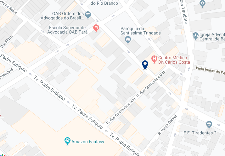 Accommodation in Belém City Center – Click on the map to see all available accommodation in this area