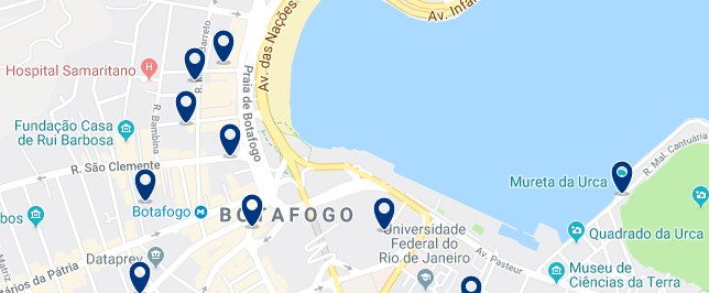Accommodation in Botafogo- Click on the map to see all available accommodation in this area