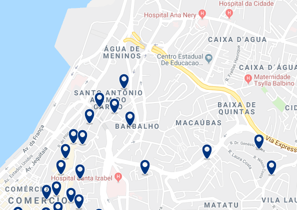 Accommodation in Santo Antonio – Click on the map to see all available accommodation in this area