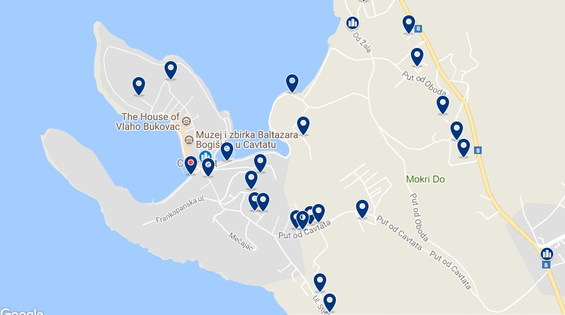 Stay in Cavtat - Click on the map to see all accommodation in this area