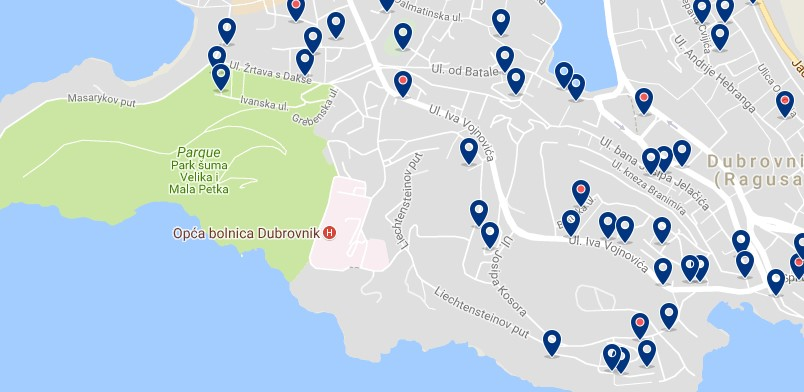 Stay in Lapad - Click on the map to see all accommodation in this area