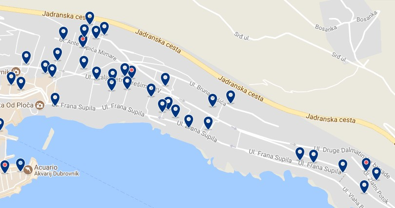 Stay in Ploce - Click on the map to see all accommodation in this area