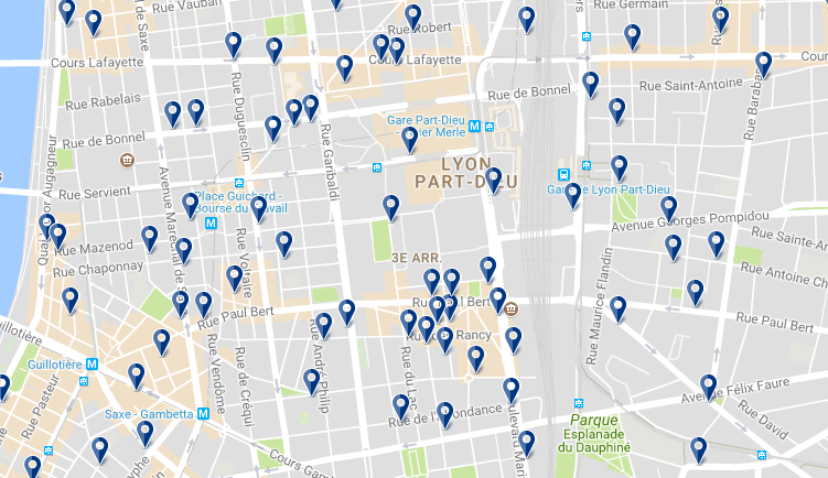 Staying in el 3rd District - Click on the map to see all available accommodation in this area