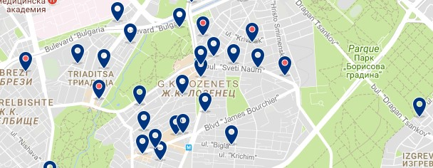 Accommodation in Lozenets - Sofia - Click on the map to see all accommodation options in this area.png