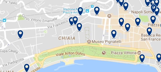 Accommodation in Chiaia - Click on the map to see all available accommodation in this area
