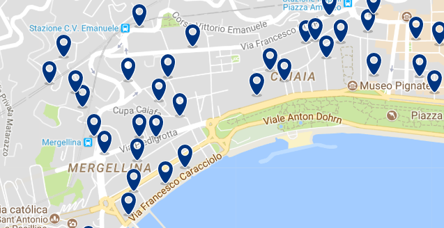 Staying in Lungomare Caracciolo - Click on the map to see all available accommodation in this area