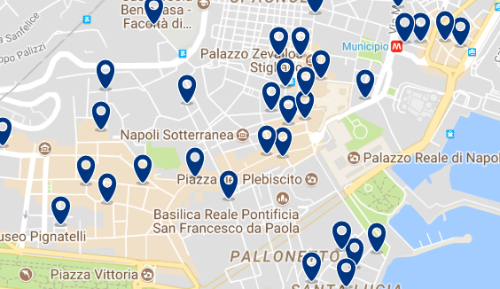 Staying near the Piazza del Plebiscito – Click on the map to see all available accommodation in this area