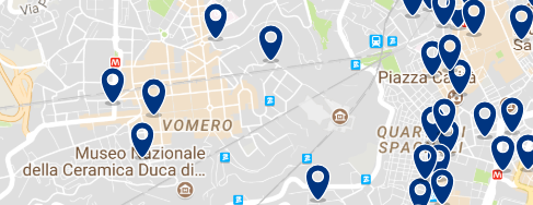 Staying in Vomero – Click on the map to see all available accommodation in this area