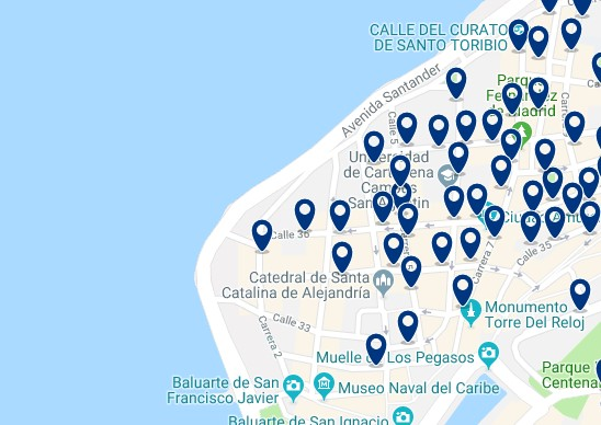 Accommodation in Centro Histórico - Click on the map to see all available accommodation in this area