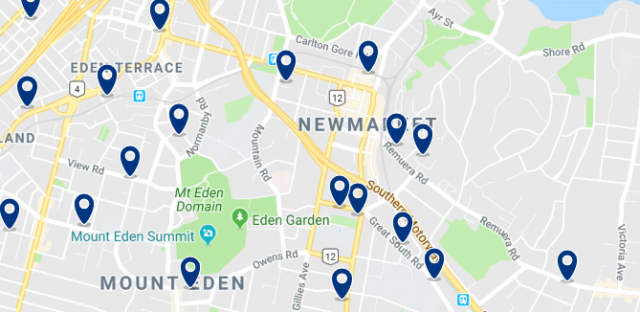 Accommodation in Newmarket - Click on the map to see all available accommodation in this area