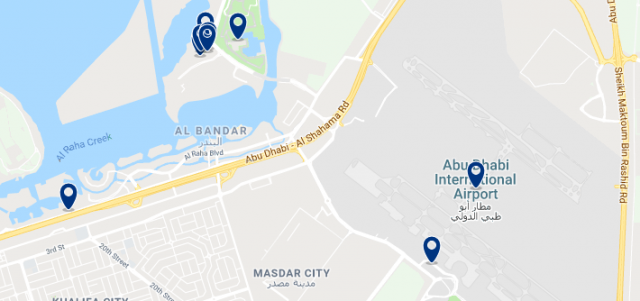 Accommodation near the Abu Dhabi International Airport - Click to see all available accommodation in this area