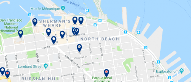 Accommodation in North Beach - Click on the map to see all available accommodation in this area