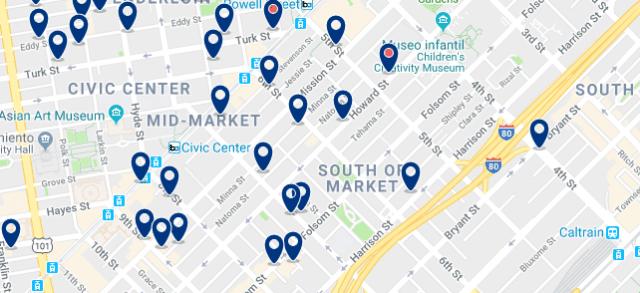 Alojamiento en South of Market - Clica sobre el mapa para ver todo el alojamiento en esta zona