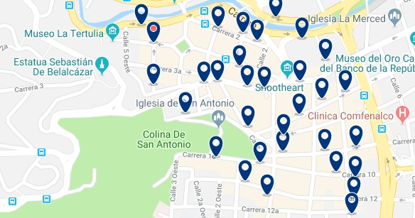 Accommodation in West Cali - Click on the map to see all available accommodation in this area