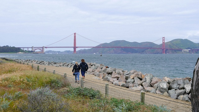 View of the Golden Gate from Marina District, one of the best areas to stay in San Francisco