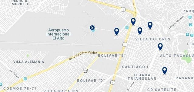 Alojamiento cerca del Aeropuerto Internacional El Alto - Haz clic para ver todo el alojamiento disponible en esta zona