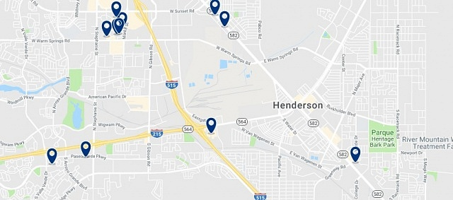 Accommodation in Henderson - Click on the map to see all available accommodation in this area