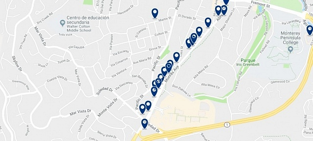 Accommodation in Munras Avenue - Click on the map to see all available accommodation in this area