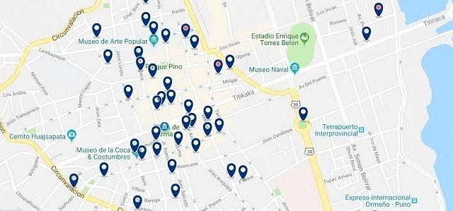 Alojamiento en Puno Centro - Haz clic para ver todo el alojamiento disponible en esta zona