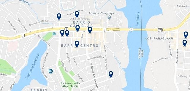 Alojamiento en Ciudad del Este - Haz clic para ver todo el alojamiento disponible en esta zona