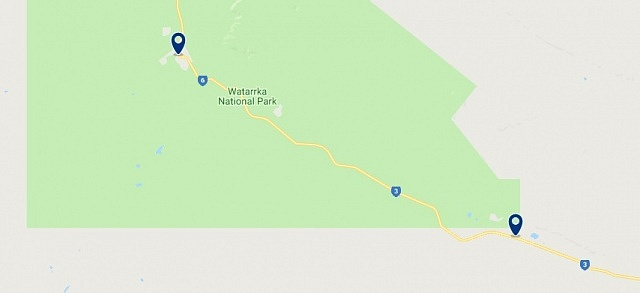Acoommodation in Kings Canyon - Click on the map to see all available accommodation in this area