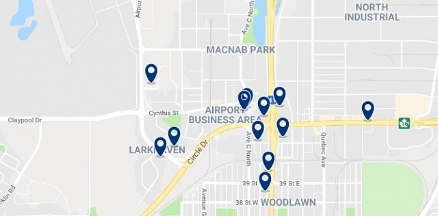 Accommodation in North Industrial District - Click on the map to see all available accommodation in this area